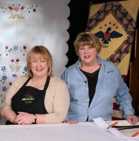 Janet-Lee Santeusanio and Mary Schilke, founders of New England Quilt Festival
