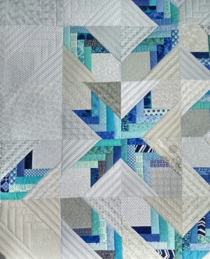 a close-up of the SVGQ Raffle quilt I quilted earlier this year.